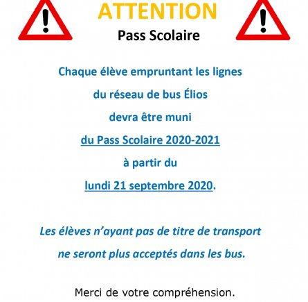 Image - Information Pass Scolaire